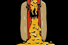 EvilHotDog_Mustard_PostCard