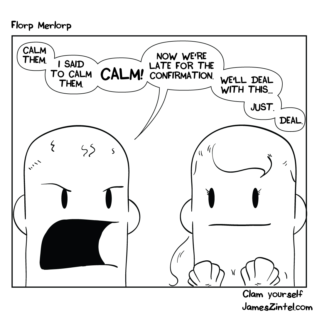 calm tits cartoon