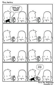 Stud finder cartoon