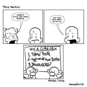 monkey science cartoon