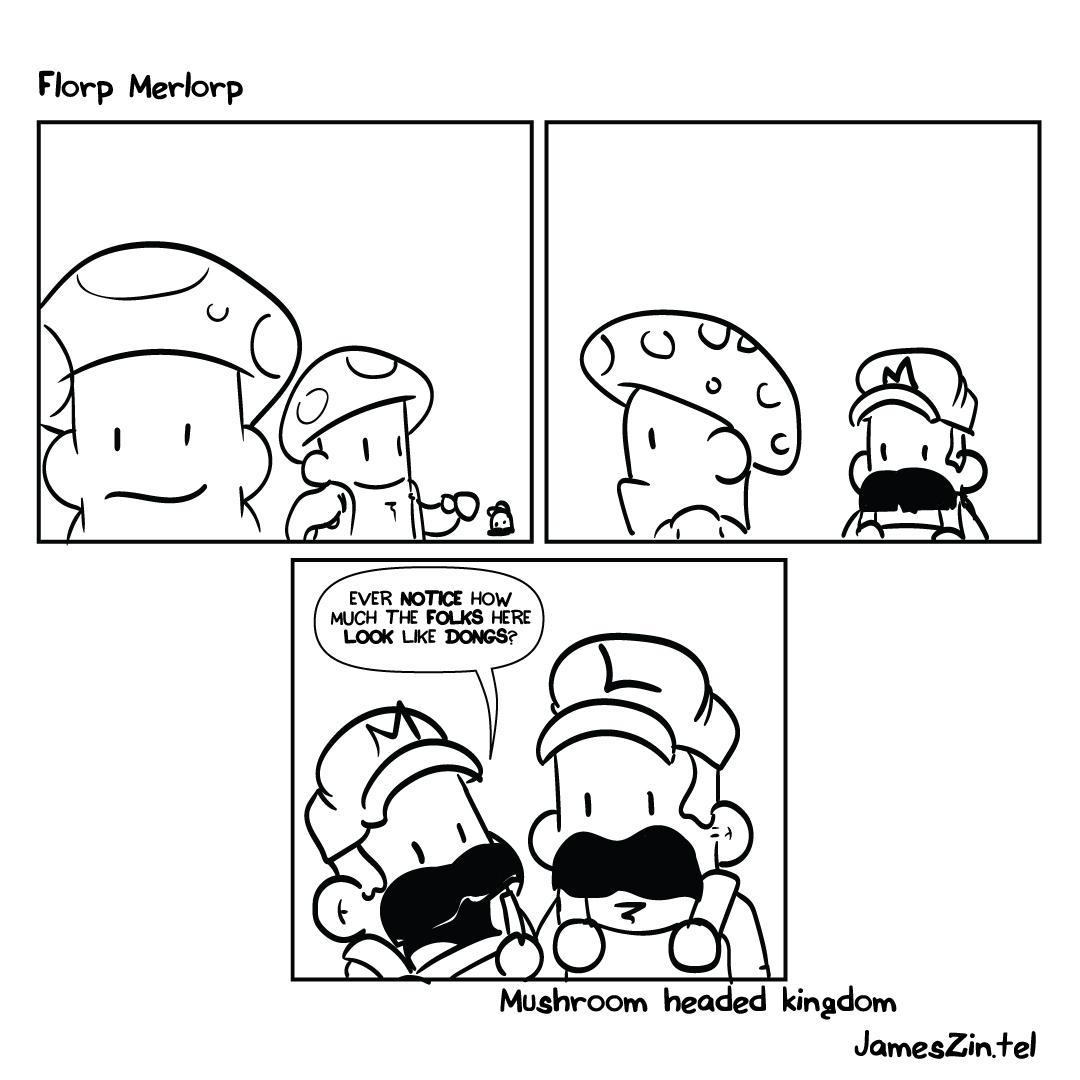 Mushroom Kingdom cartoon